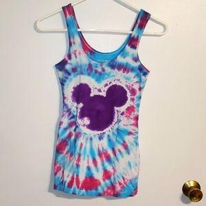 No Boundaries women's S mickey mouse tie dye tank